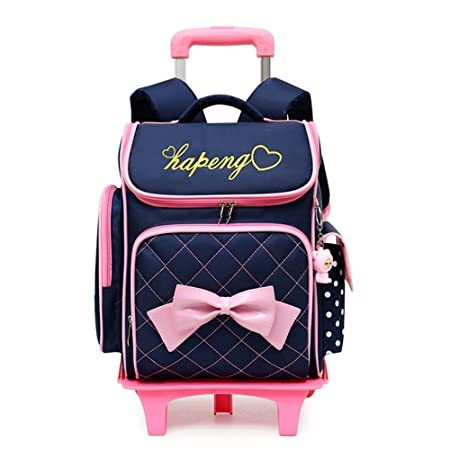 f1620090d8 Removable Children School Bags with 2 6 wheels for Girls Trolley Backpack  Kids Wheeled Bag Kids Bookbag Travel Luggage Mochila