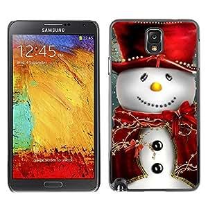 YOYO Slim PC / Aluminium Case Cover Armor Shell Portection //Christmas Holiday Friendly Snow Man 1104 //Samsung Note 3