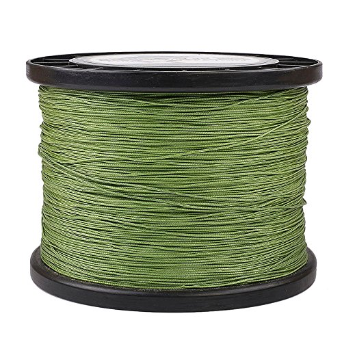 (HERCULES Super Cast 1000M 1094 Yards Braided Fishing Line 200 LB Test for Saltwater Freshwater PE Braid Fish Lines Superline 8 Strands - Army Green, 200LB (90.7KG), 0.75MM)