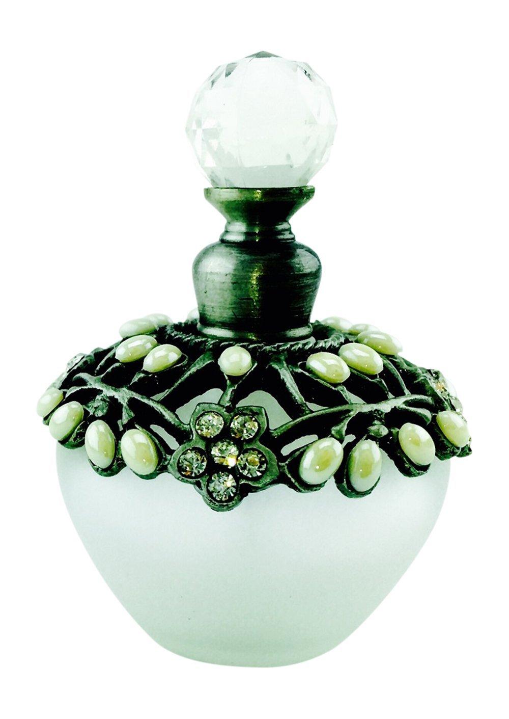 Welforth Perfume botella, cristal y peltre Bejeweled con piedras y cristales: Amazon.es: Hogar
