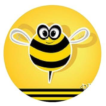 alfombrilla de ratón icono de la abeja del vector. dibujo animado lindo de la abeja