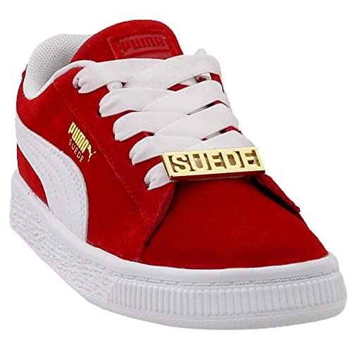 purchase cheap 884cd 29d8c Puma Kids Baby Boy s Suede Classic Bboy Fabulous (Toddler) Flame Scarlet  Puma White