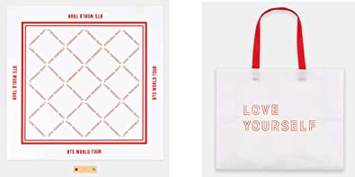 Amazon com: BTS OFFICIAL MERCHANDISE LOVE YOURSELF SHOPPER BAG +