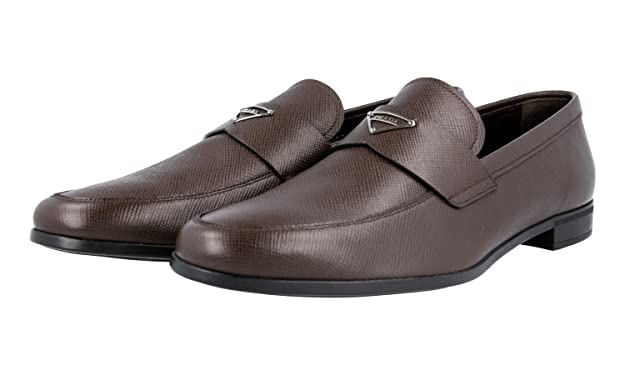 Men's 2DE108 Saffiano Leather Loafers