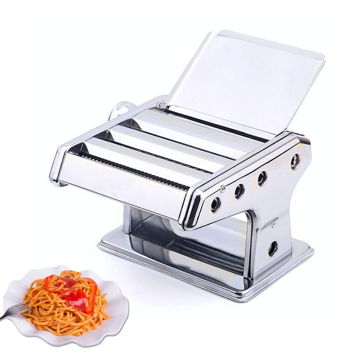 RRH Stainless Steel Pasta Maker 3 Cutting Die Stainless Steel Roller for Fresh Spaghetti Fettuccine Linguine Lasagna Noodle Hand Crank Cutter Pasta Machine by RRH