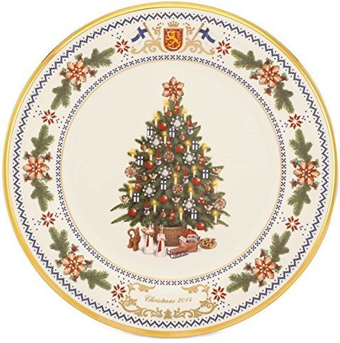 Lenox Christmas 2014 Annual Trees Around The World Plate Finland Collectors 24th USA by Lenox