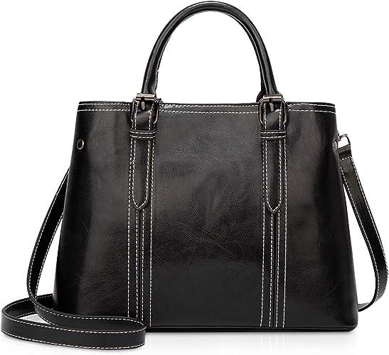 Vintage PU Leather Women Shoulder Bag Classic Fashion Handbag Shopping Bags UK