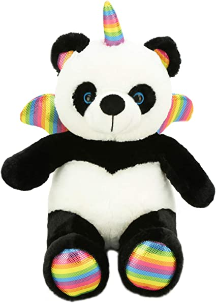 Unicorn Teddy Bear Toys R Us, Amazon Com Shauntsy The Pandacorn Cute Panda Bear Stuffed Animal Plush Soft Unicorn Teddy Toy Pandicorn With Rainbow Wings And Horn Pandicornio For Kids Party Supplies 16 Inch Big Size Toys Games