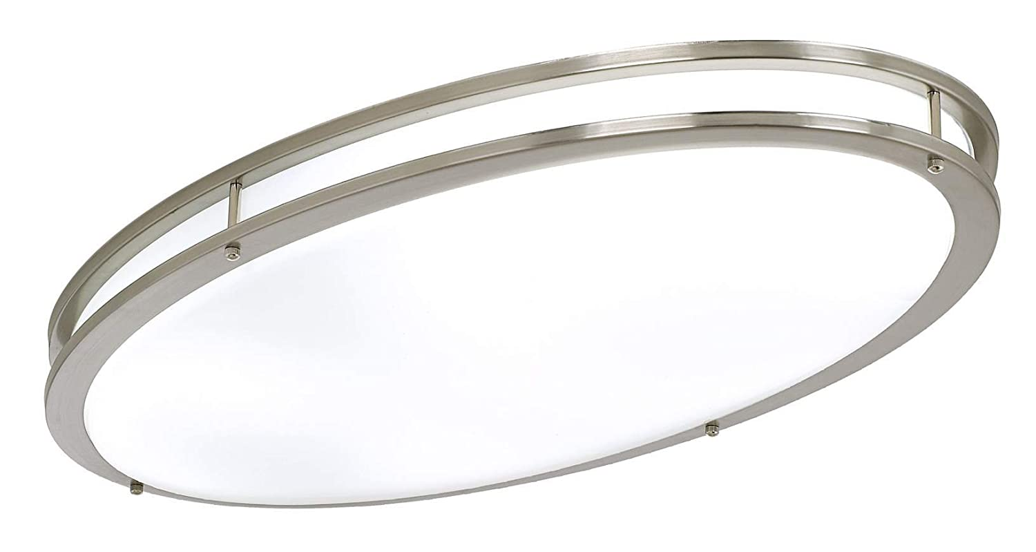 LB LED Flush Mount Ceiling Lighting Oval Antique Brushed - Brushed nickel kitchen light fixtures