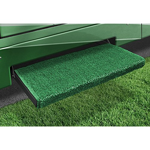 Prest-O-Fit 2-0058 RV Trailer Camper Jumbo Wraparound +Plus Step Rug Green ()