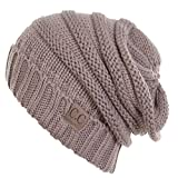 d44f31a50d7 Funky Junque s C.C. Trendy Warm Oversized Chunky Soft Oversized Cable Knit Slouchy  Beanie - Taupe