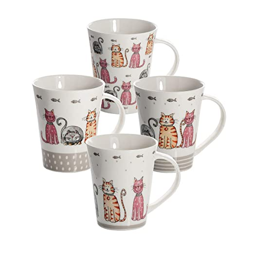 SPOTTED DOG GIFT COMPANY Juego 4 Tazas de Café Te Originales ...