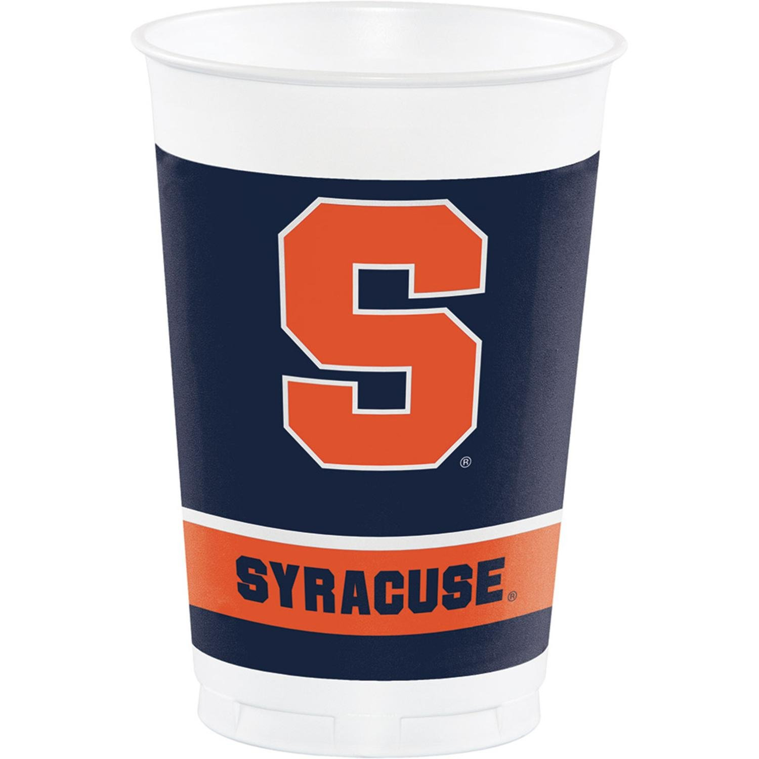 Club Pack of 96 Navy Blue and Orange Syracuse University Disposable Cups 20oz