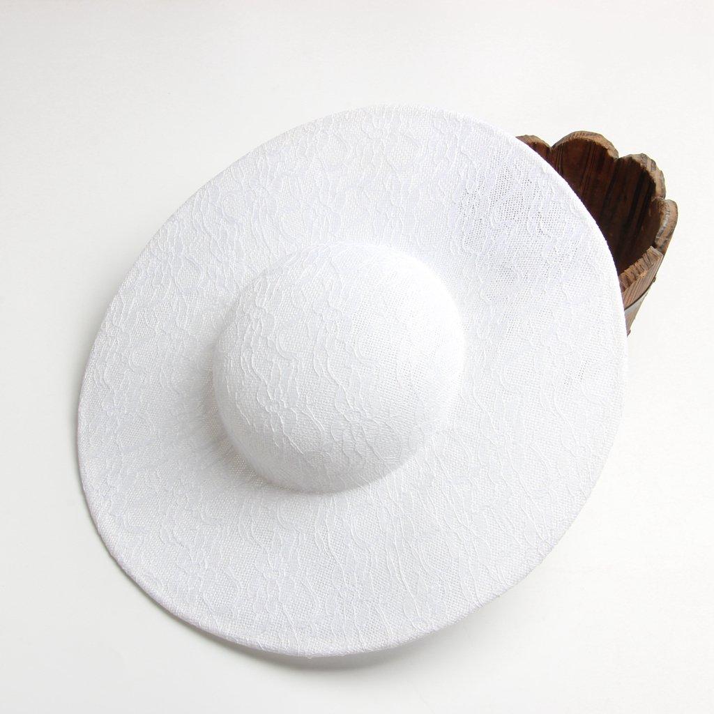 15cm FITYLE Fascinators de Sinamay base de Hats Para Mujeres para hacer Sombrero DIY Blanco