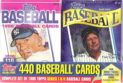 1996-topps-mlb-baseball-mickey-mantle-cereal-box-type-factory-sealed-set-with-440-regular-cards-plus