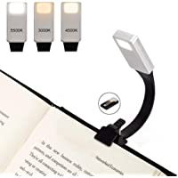 LED Reading Light, Relime 2018 Upgraded USB Rechargeable Book Light 50 Lumens 3 Brightness Super-Light Reading Lamp with Clip for Amazon Kindle/eBook Reader/Books / iPad etc
