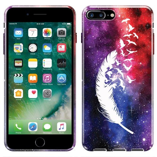 NextKin For Apple iPhone 7 Plus 5.5 Case, Flexible Slim Silicone TPU Skin Gel Soft Protector Cover - Birds Of A (Bird Image Wrap)