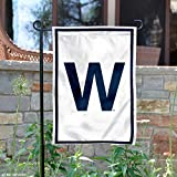 Chicago Cubs W Win Double Sided Garden Flag