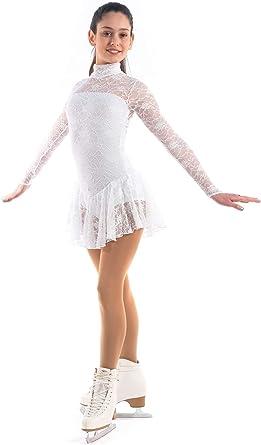Italy Hand-Made//Figure Ice Skating Dress Roller Skating Sagester # 150