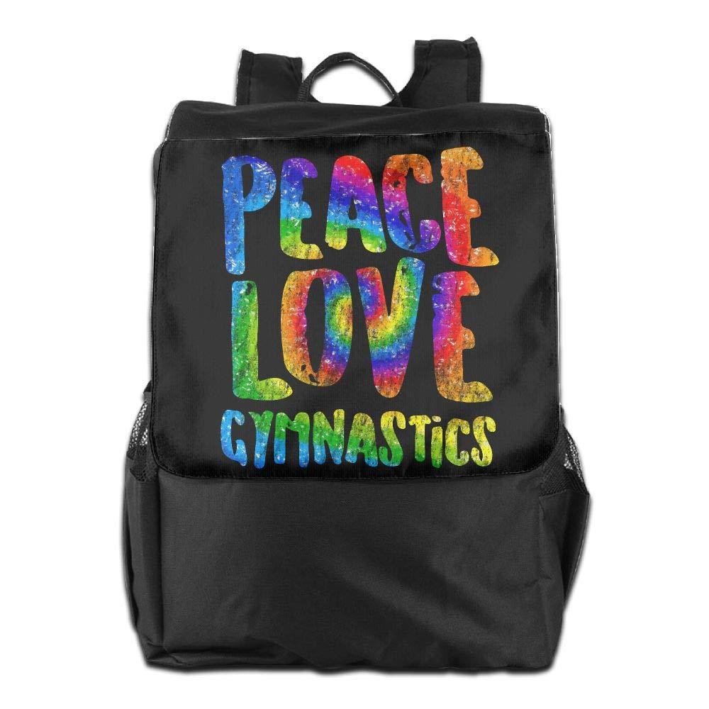 Louise Morrison Tie-dye Peace Love Gymnastics Women Men Laptop Casual Business Travel Backpack College School Bookbag