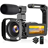 Video Camera Camcorder 2.7K, Vlogging Camera for YouTube Ultra HD 24FPS 36 MP IR Night Vision 16X Digital Zoom 3.0 Touch…