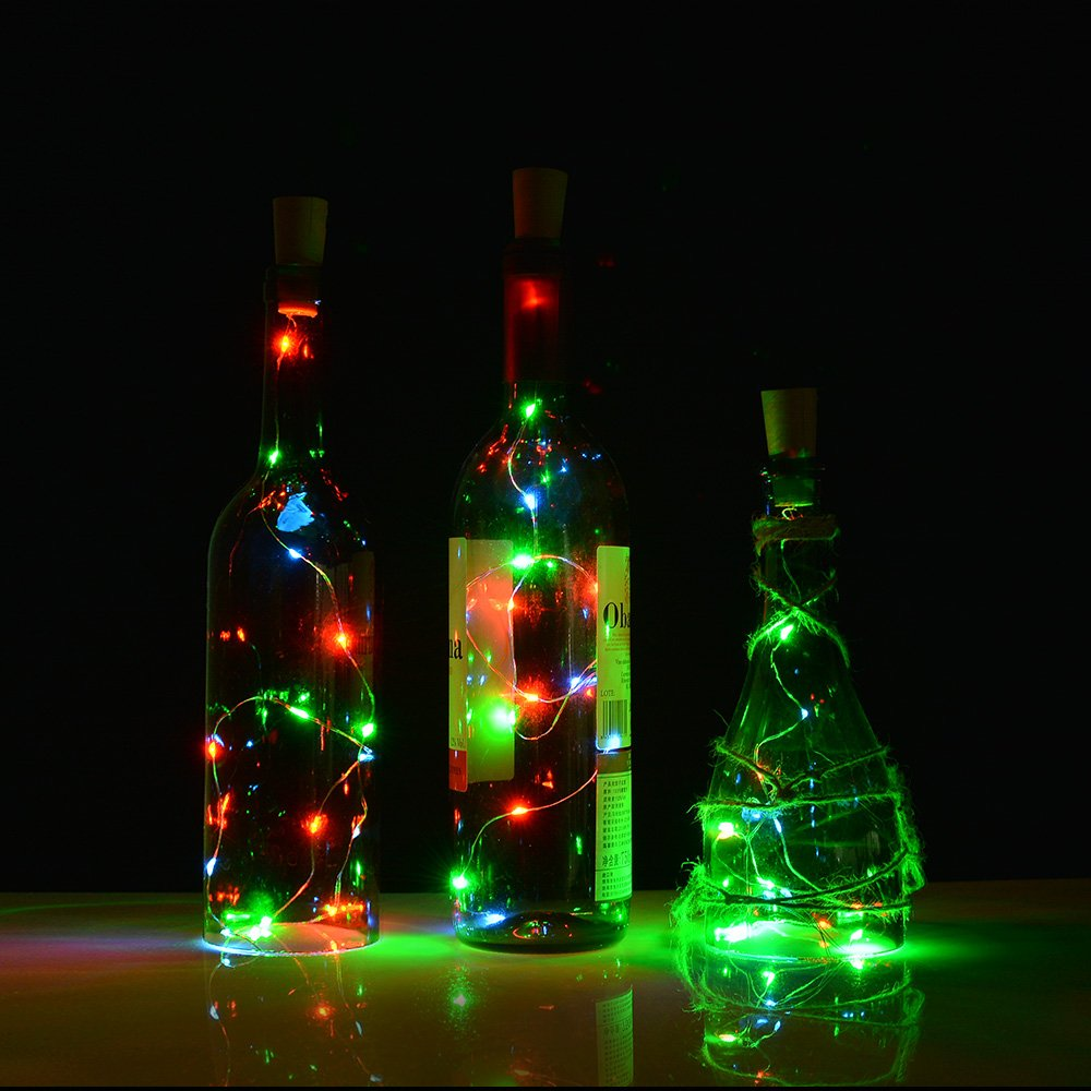 Amazon Wine Bottle Lights With Corkled Cork Lights For Bottle
