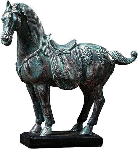 Estatuas para jardín Figuras de colección Adornos Estatuas Esculturas Caballo Estatua Carrera de Caballos Estatua Caballo de Bronce Modelo Simulación Escritorio Resina Artesanía: Amazon.es: Hogar