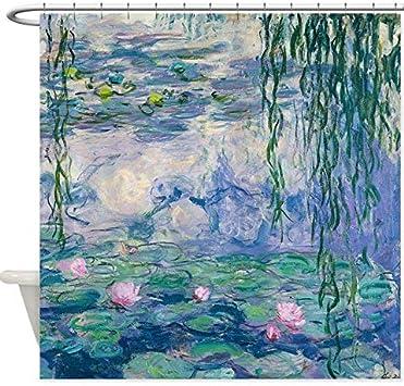 Fvfbd 150x180cm Diseño Water Lilies Claude Monet Fine Art Tela Decorativa Cortina de Ducha