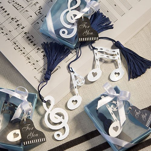 Blue Note Favor Set - Musical Note Bookmark Favors [SET OF 24]