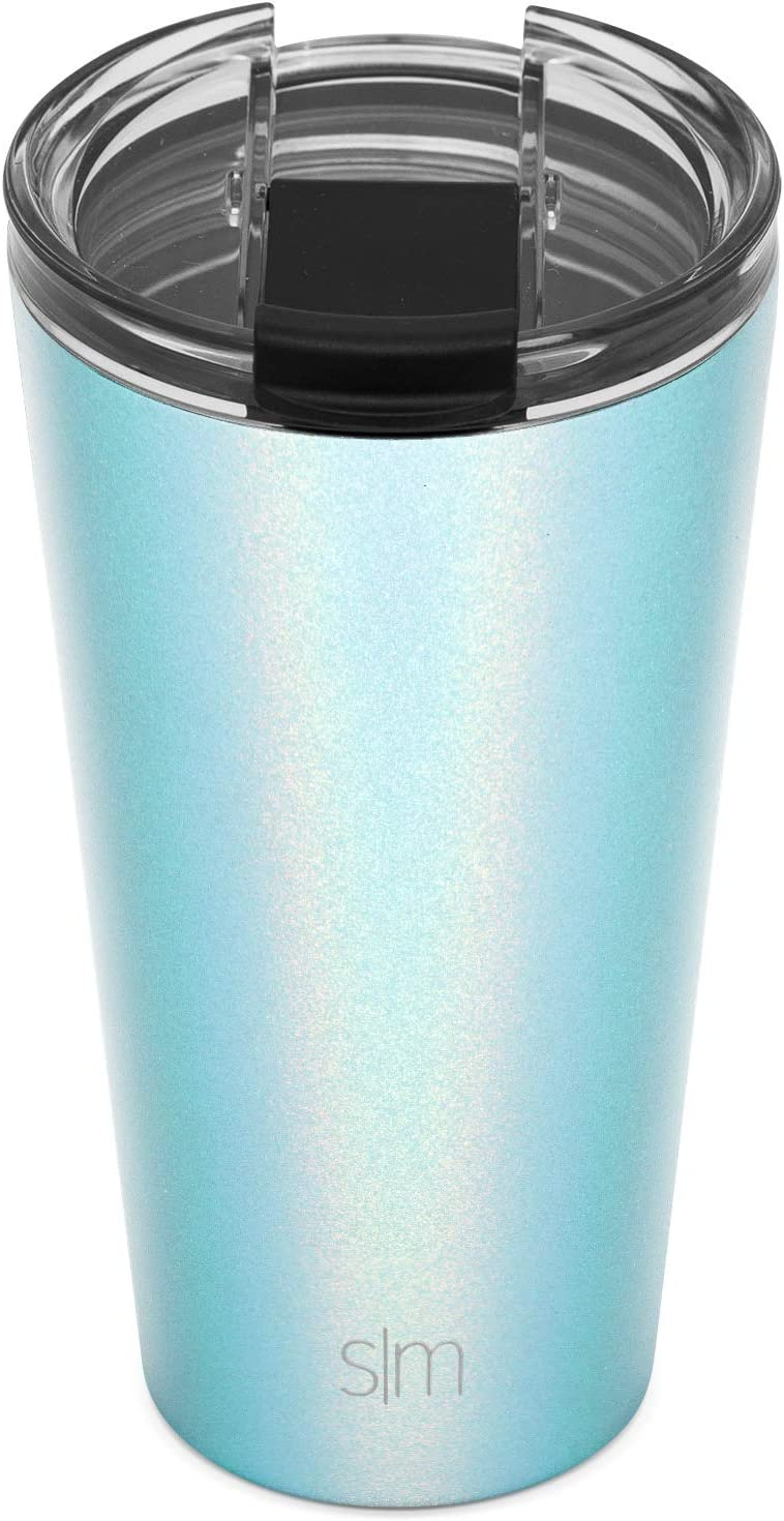 Flask Coffee Beer Insulated Beer Pint Cup 18//8 Stainless Steel -Seaside Classic Travel Mug Tumbler with Closing Lid and Straw Simple Modern 590mL 20oz