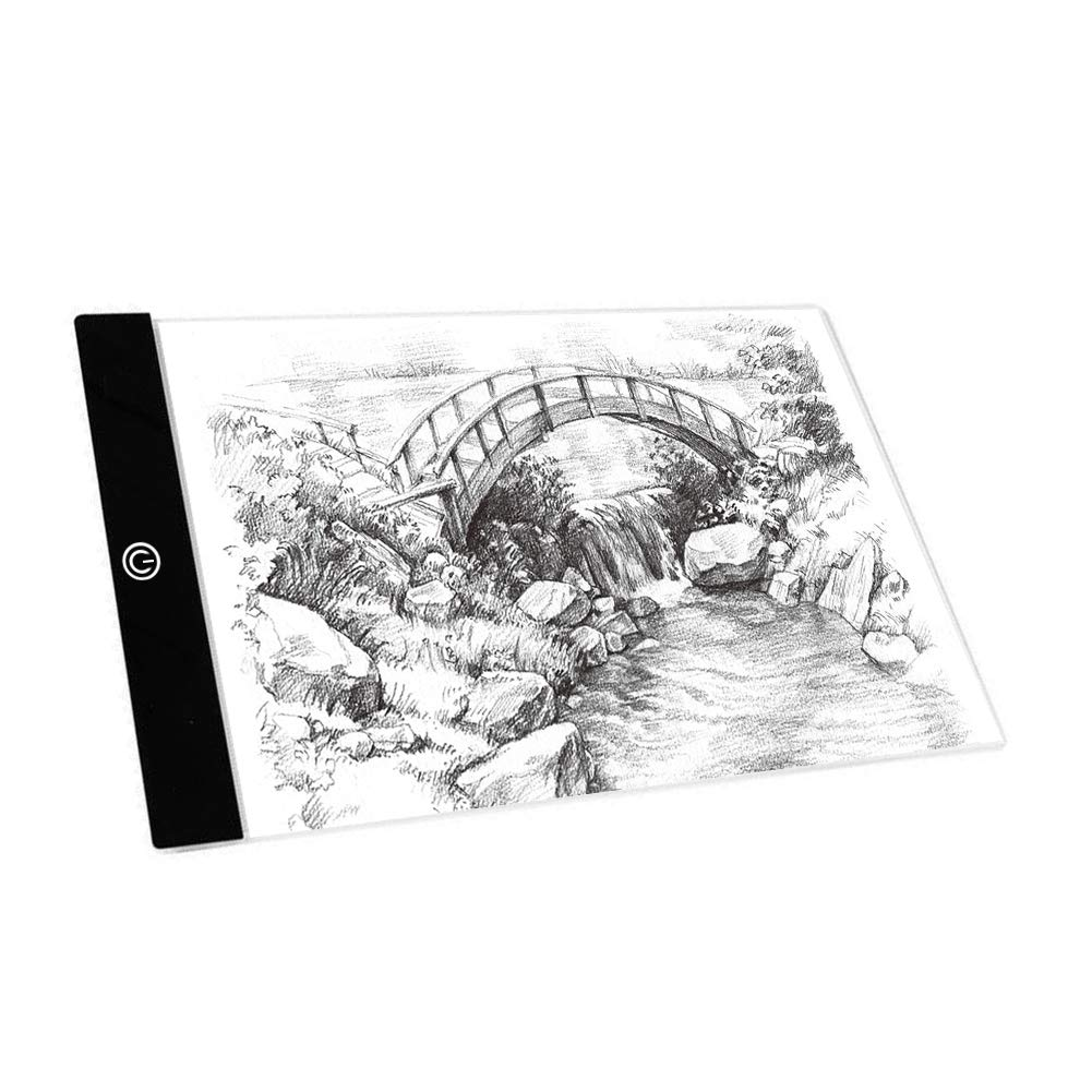 Aorious LED Tracing Light A4 Dimmable Artcraft Light Pad for Artists Drawing,Shetching,Animation,Tattoo USB Powered with Free Gifts K12