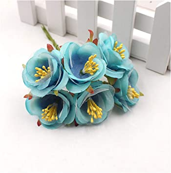 24pcs//kit Foam Bird Handmake Artificial Flowers Head Wedding DIY Gift Box Craft