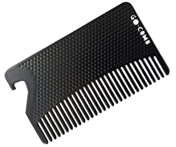 Amazon go comb metal mens wallet size comb bottle opener go comb metal mens wallet size comb bottle opener hair and beard slim reheart Choice Image
