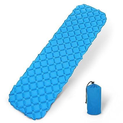 Quate Almohadilla de dormir inflable ligera autoinflar, tamaño compacto, saco de dormir, hamaca