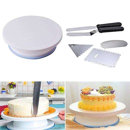 NZNNXN - Juego de 11 platos giratorios para decoración de tarta ...