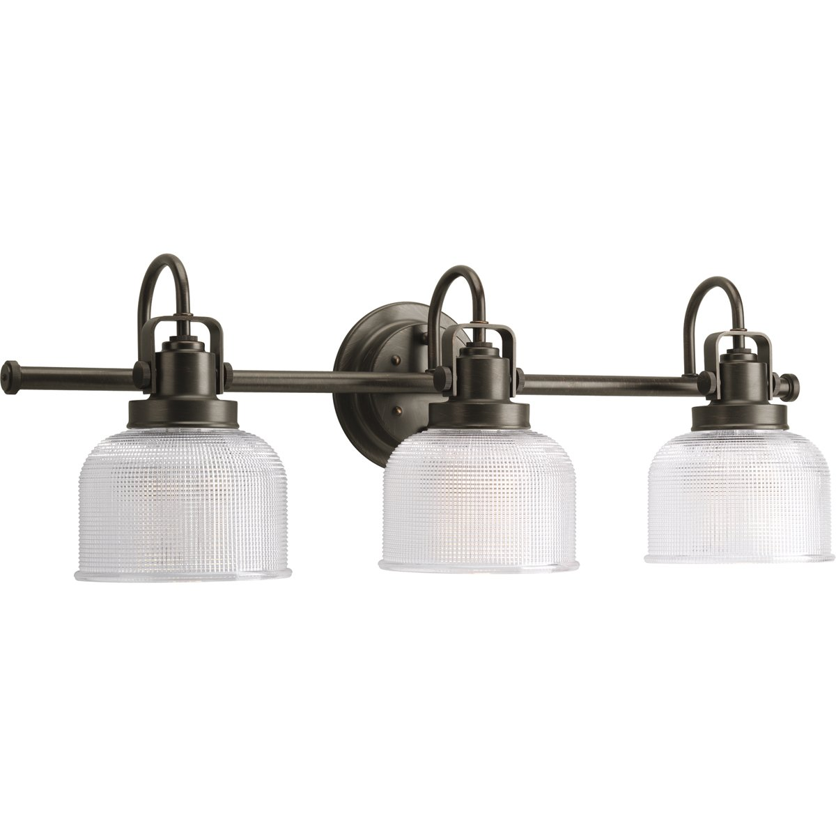 Progress Lighting P2992-74 Archie Three Light Bath Vanity, Venetian Bronze Finish by Progress Lighting