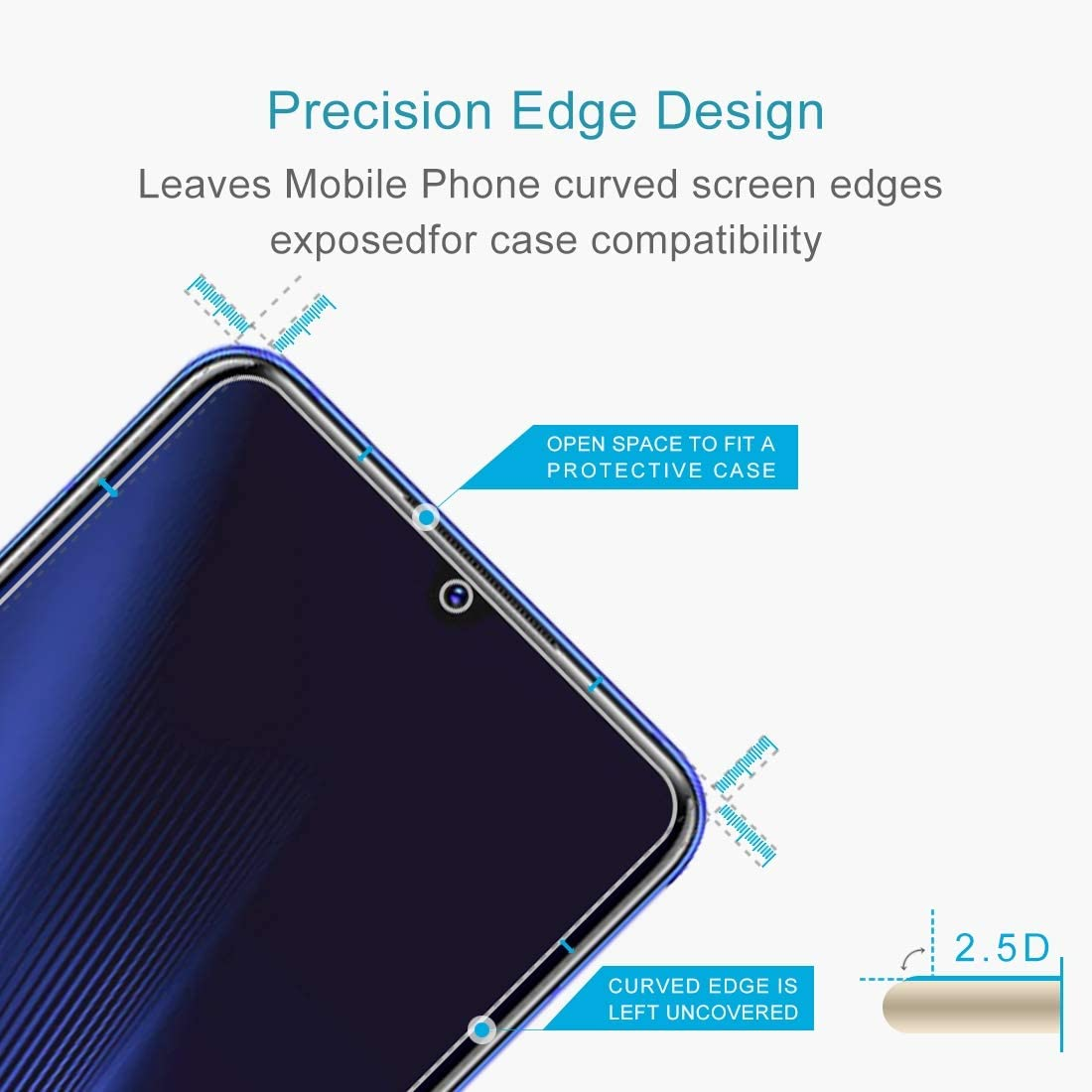 LGYD for for Vivo iQOO Pro 50 PCS 0.26mm 9H 2.5D Tempered Glass Film