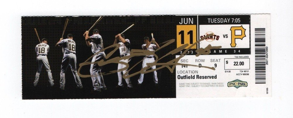 Astros Pirates 45 Gerrit Cole Signed Autograph MLB Debut Full Ticket Stub 61113 JSA Certified