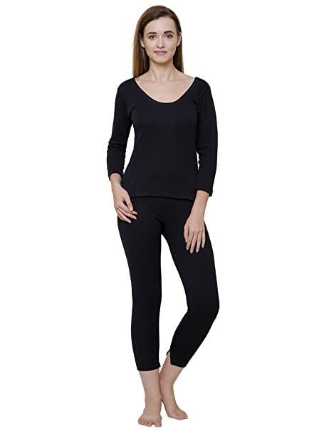8e3c04ea22f995 Bodycare Black Solid Women Thermal Top  Amazon.in  Clothing ...