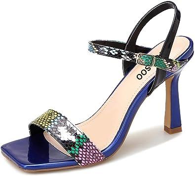 Open Toe Heeled Louis Heel Shoes