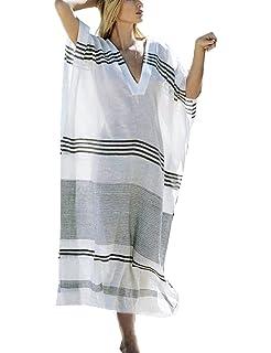 AiJump Pareo Kaftan Vestido Largo Beachwear Bikini Cover Up