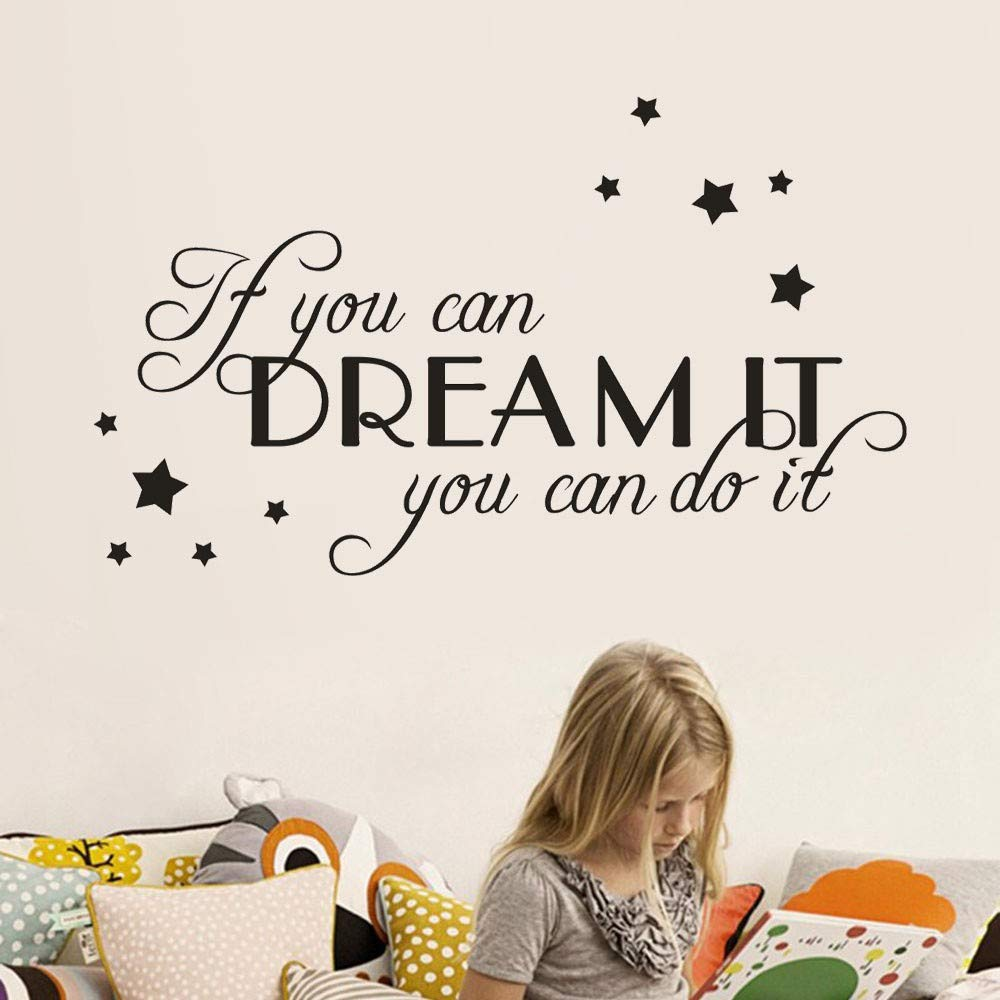 Quotes Stickers Hoshell DIY If You Can Dream It You Can It Home Decor Wall Sticker Decal Bedroom Vinyl Art Mural
