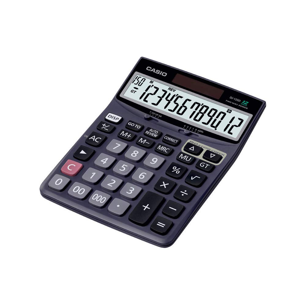 Casio DJ-120D 150 Steps Check and Correct Desktop Calculator with Bigger Screen/Keys (12 Digit) product image