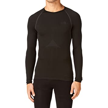07eecc2d7 The North Face Men's Hybrid Crew Neck Long Sleeve Baselayer: Amazon ...