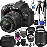 Nikon D5200 Digital SLR Camera with 18-55mm & 55-200mm VR Lenses . Includes Wide Angle & Telephoto Lenses, Filter Kit, 16GB Memory Card & More - 1503