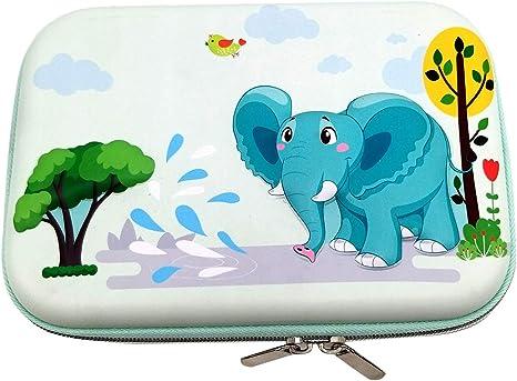 ZF - Estuche de Goma EVA para lápices, para Estudiantes, niñas, niños, Adolescentes, niños, Elefantes (Verde Claro): Amazon.es: Informática