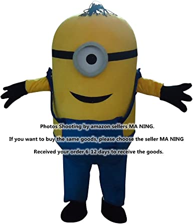 Adult Minions Despicable Me Mascot Costume EPE Fancy Dress Outfit-Best Quality