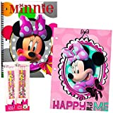 minnie mouse school supplies - Disney Minnie Mouse School Supplies Value Pack -- 10 Pcs (8 Pencils with Erasers, Notebook, Folder)