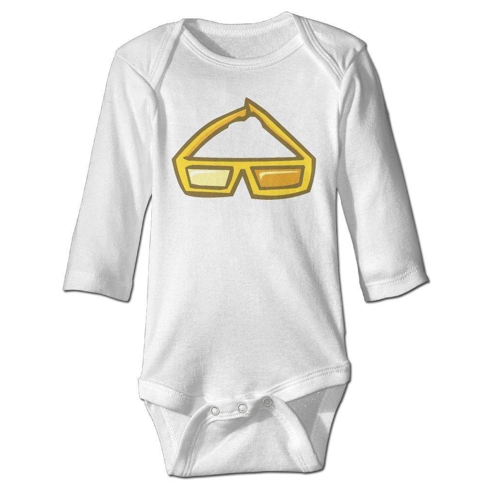braeccesuit Babys Gold Glasses Long Sleeve Romper Onesie Babysuit Jumpsuit