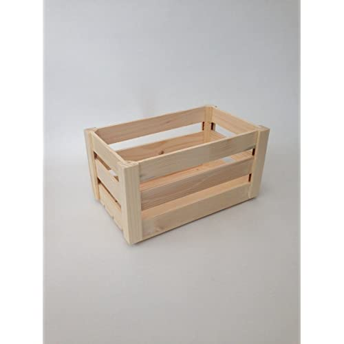 Large New Wooden Storage Box Diy Crates Toy Boxes Set: Small Wooden Crate: Amazon.co.uk